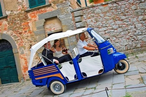 ROMANTIC TOUR - APE CALESSINO CAR - Holiday in Tuscany   THE COTTAGE COMPANY  & THE FRENCH VINTAGE  COTTAGE   Scoop.it
