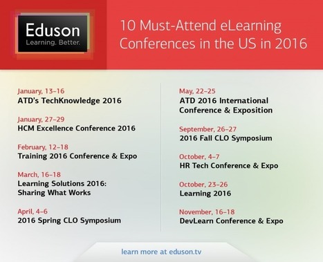 10 Must-Attend eLearning Conferences In The US In 2016 - eLearning Industry | WOU Project | Scoop.it