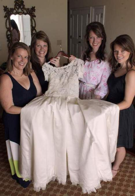 Wedding dress handed down the generations does more divine duty - Marco Island Sun Times | fashiondresses | Scoop.it
