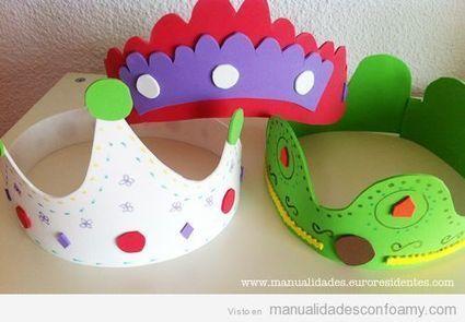 Coronas de cumpleaños en goma eva | Manualidades con Foamy | Fotos, vídeos, tutoriales e ideas para hacer manualidades con foamy para niños | Goma eva | Scoop.it