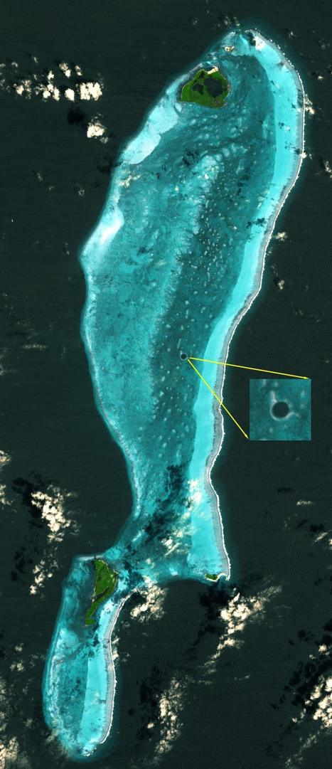 Satellite Image of the Great Blue Hole in Belize | Belize in Social Media | Scoop.it