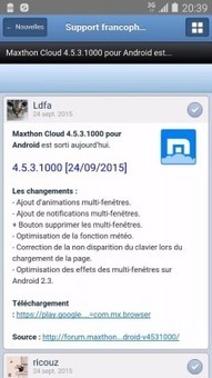 Application Android pour le Support Francophone de Maxthon - Nouvelles - Support francophone de Maxthon | Maxthon | Scoop.it