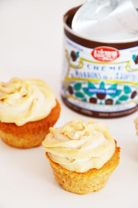 Cupcakes crème de marrons | Pink Dessert | Cupcakes en France | Scoop.it