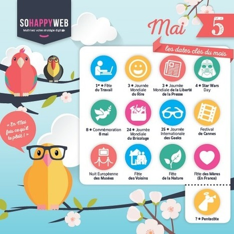 Calendrier éditorial MAI - So Happy Web | Nouvelles pratiques de communication et de médiation | Scoop.it