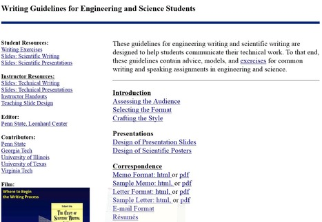 Writing Guidelines for Engineering and Science Students | Learning English UC | Scoop.it