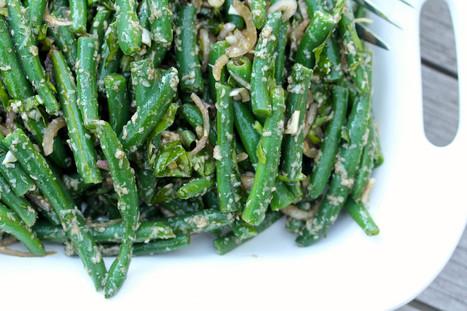 Karen's Kitchen Stories: Green Bean Salad with Basil, Parmesan, Shallots, and Balsamic   Karen's Kitchen Stories   Scoop.it