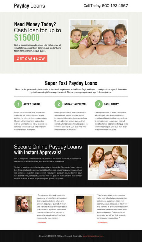 payday-cash-loan-responsive-lp-002 | Payday Loan responsive landing page design preview. | responsive landing pages | Scoop.it