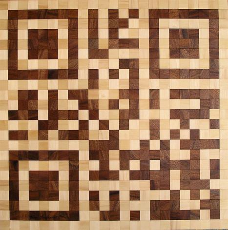 QRcode Wood Mosaics   artcode   Scoop.it