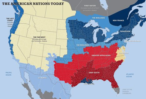 This map shows the US really has 11 separate 'nations' with entirely different cultures | Stuka78 | Scoop.it