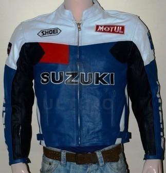 Suzuki Motorcycle Leather Biker Jacket Split Cow-Hide   You like leather jackets since nobody ignored it   Scoop.it