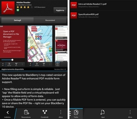 Adobe Reader si aggiorna alla versione 10.4.1.15 per BlackBerry 10 - BlackBerryItalia | iPdf - Pdf interattivi | Scoop.it