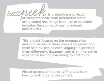 bzzzpeek.com: how people imitate animal sounds around the globe | Brainfriendly, motivating stuff for ESL EFL learners | Scoop.it