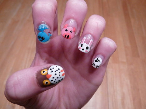 25+ Cute and Adorable Animal Nails | EntertainmentMesh | Scoop.it