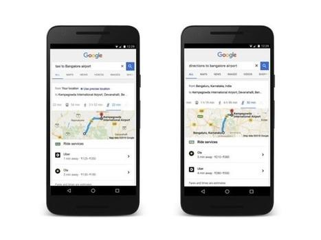 Google ya muestra información de trayectos con Uber en los resultados de búsqueda en móviles   Bits on   Scoop.it