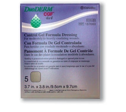 Duoderm Gcf Control Gel Formula Dressing 4 X 4 Bx/5 * Wound Care * Convatec Dressings * SQB1876-60 | Durable Medical Equipment | Scoop.it