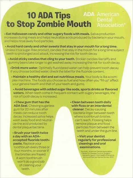 10 ADA Tips to stop Zombie Mouth | Aesthetic Dental Arts,PC | Dental | Scoop.it