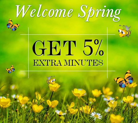 Welcome Spring Get 5% Extra Miniutes | Cheap International Calling | Scoop.it