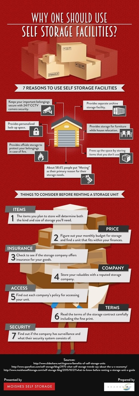Why One should use Self Storage Facilities – Infographic by Moishe's Self Storage | Infographic | Scoop.it
