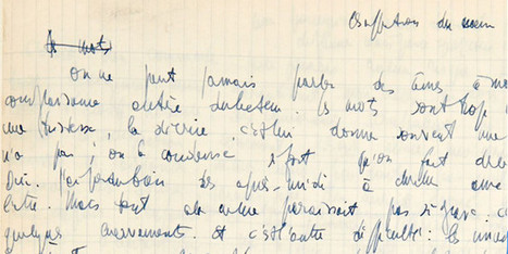 Une ébauche des Mots de Sartre aux enchères le 16 Avril | Les Mots et les Langues | Scoop.it