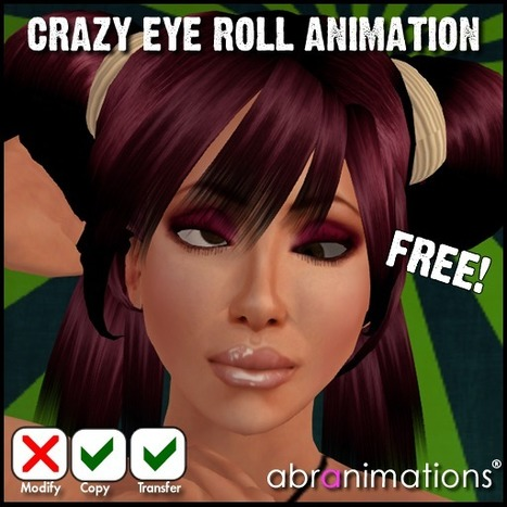 Crazy Eye Roll Animation By Abranimations | Teleport Hub | Second Life Freebies | Scoop.it