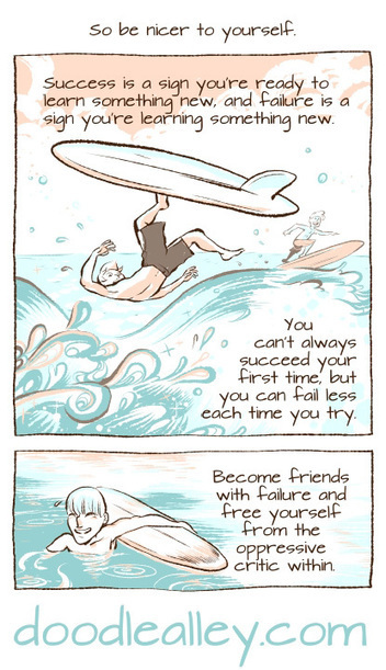 Inspiring Comic Explains Why Every Creative Person Should Be Friends With Failure | xposing world of Photography & Design | Scoop.it