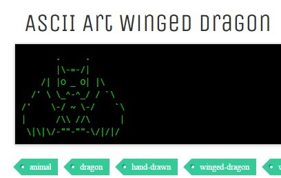 ASCII Art Winged Dragon | ASCII Art | Scoop.it