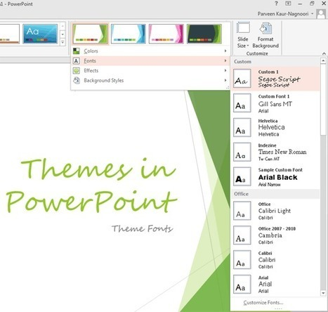 Learn Theme Fonts with PowerPoint 2013 | Microsoft PowerPoint Training | Scoop.it