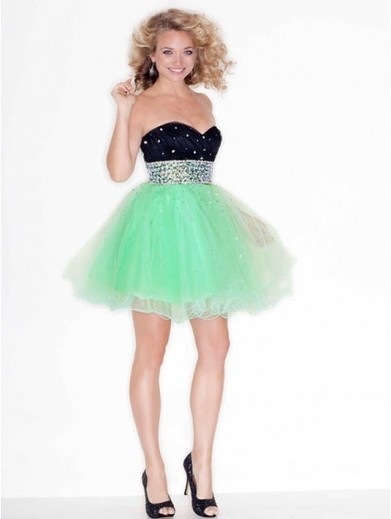 Cheap A-line Sweetheart Tulle Green Cocktail Dresses/Short Prom Dress With Beading #VenusD029 | Cheap Wedding Dresses UK, Bridesmaid Dresses, Evening Dresses & Prom Dresses In UK | Scoop.it