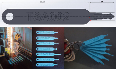 TSA-Approved Master Luggage Keys Hacked and 3D Printed Once Again | FabLab - DIY - 3D printing- Maker | Scoop.it
