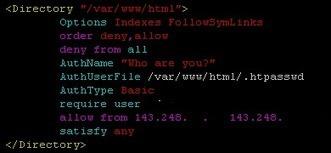아파치 웹서버 접속 제한 - IP 또는 사용자로 접속 제한 | System Development Techniques | Scoop.it