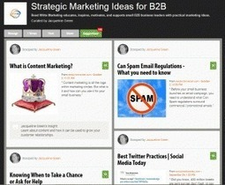 Curating Content for Business Use | Strategic Marketing Ideas for B2B | Scoop.it
