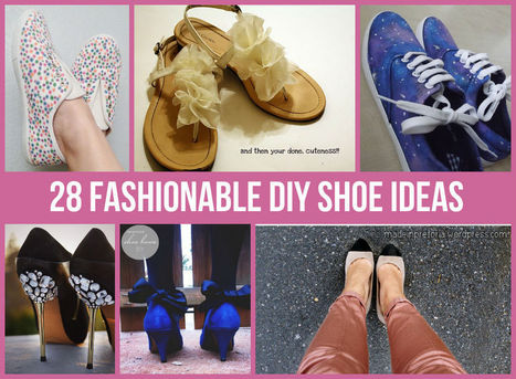 28 Fashionable DIY Shoe Ideas - Homemade Home Ideas | Fashion DIY | Scoop.it