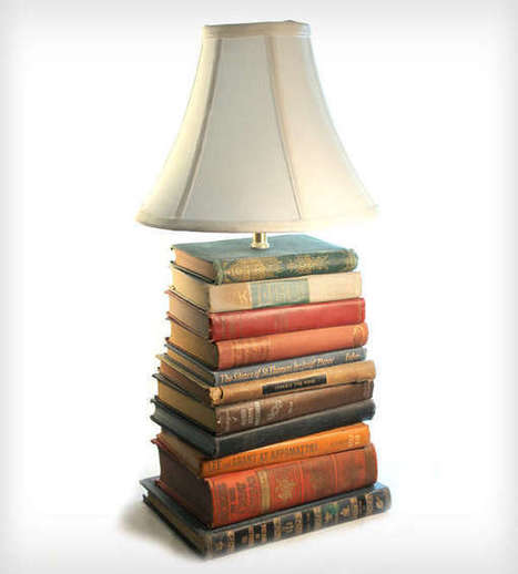 Upcycled Novel Lamps - These Reading Lamps are Made from Stacks of Unused Books (TrendHunter.com) | Creative Cables and Lighting Design | Scoop.it