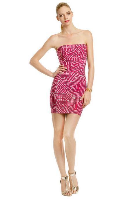 Herve Leger Pink Mod Maze Strapless Bandage Dress - $169.00 | Sexy | Scoop.it