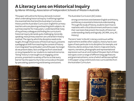 A Literacy Lens on Historical Inquiry:       HTAA - Primary Bulletin | History Matters | Scoop.it