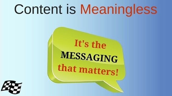 It's The Marketing Message, Not Content, That Matters | Business in a Social Media World | Scoop.it