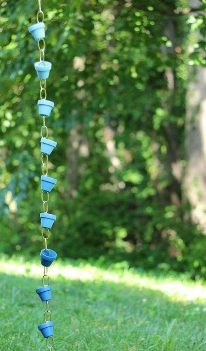 10 originales cadenas de lluvia para decorar el jardín.   Mil ideas de Decoración   Accesorios decoración   Scoop.it