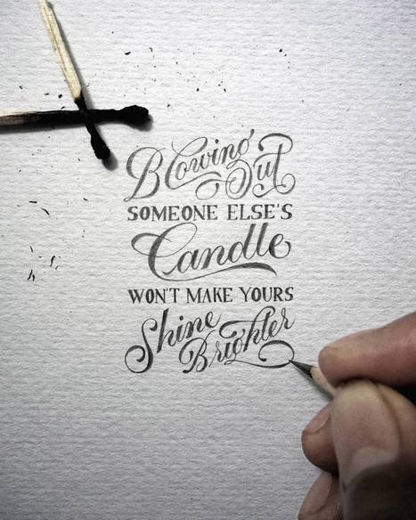 Great Hand Lettered Quotes by Dexa Muamar | calligraphie | Scoop.it