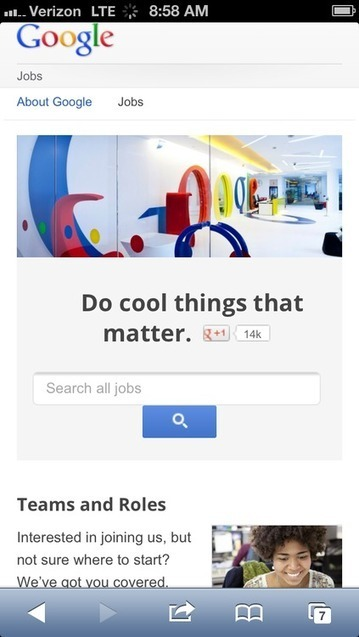Mobile Recruiting Done Right: Google, Inc. | Recruiting | Scoop.it