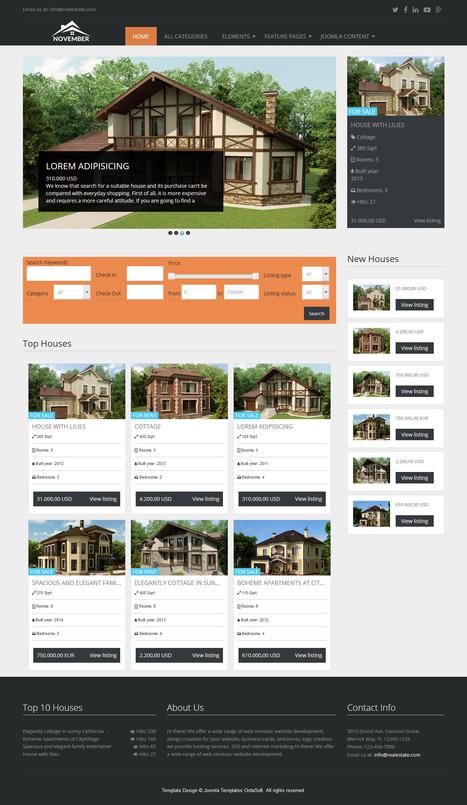 Real Estate November - Free Joomla template | FREE JOOMLA TEMPLATES | Scoop.it