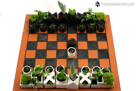 3D-Printed Chess Set Turns Each Piece into a Miniature Planter | Le It e Amo ✪ | Scoop.it