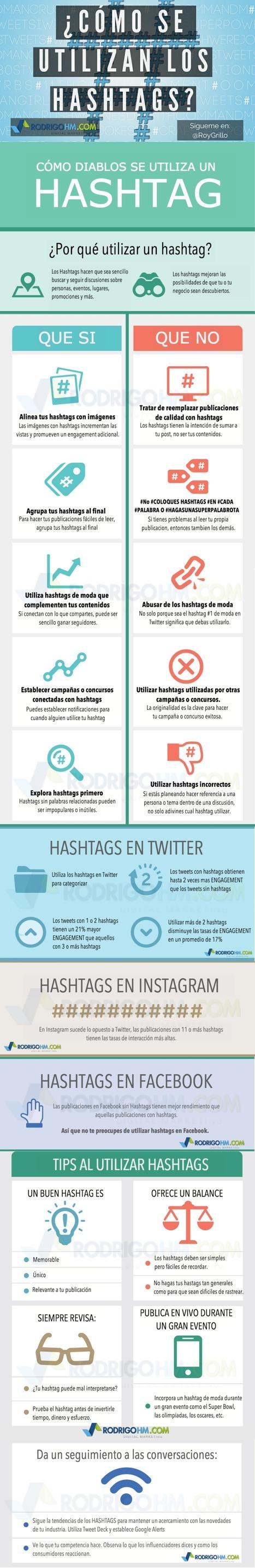 Redes Sociales: cómo usar los hashtags #infografia #infographic #socialmedia   Redes sociales y Social Media   Scoop.it