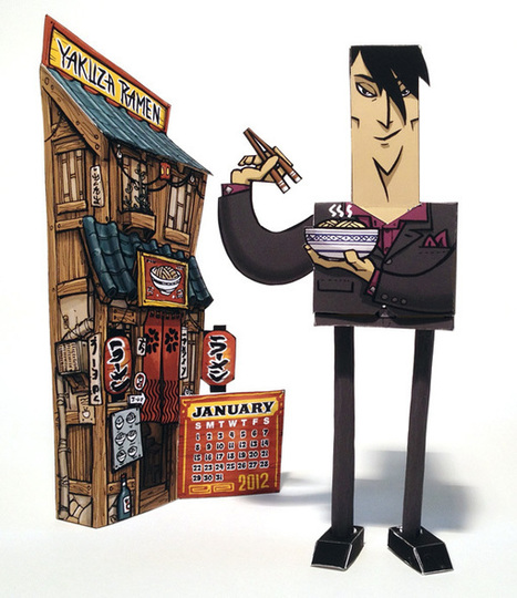 Yakuza Paper Toy and Calendar | GoGo Picnic | paper-toy | Scoop.it
