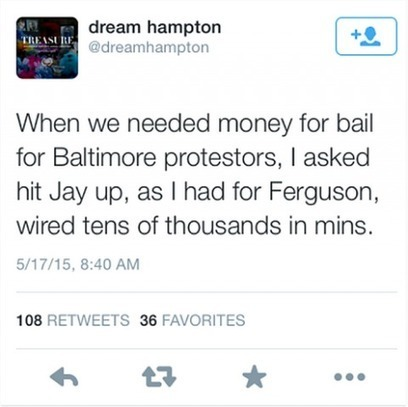 Jay-Z and Beyonce Have Been Discreetly Paying the Bail of Baltimore and Ferguson Protesters | Police Problems and Policy | Scoop.it