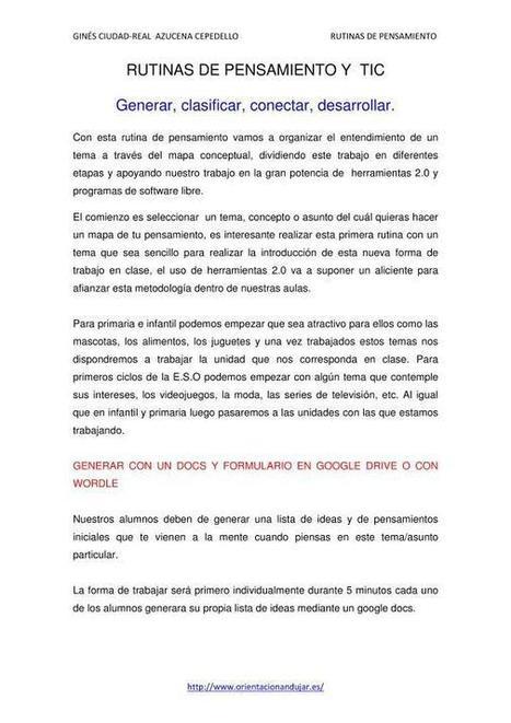 Rutinas de pensamiento y TIC | Orientacion AndujarOrientacion Andujar | IM(inteligencias múltiples)-AA(adimen anizkunak) | Scoop.it