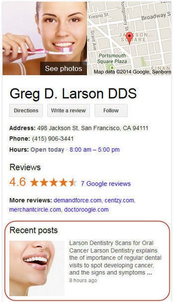Google Local Knowledge Graph Showing Google+ Posts - How To & Examples | Local SEO & Web Marketing | Scoop.it