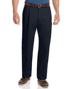 Haggar Big and Tall Pants, Work to Weekend Pleated Pants - Pants - Men - Macy's | fashion pants | Scoop.it