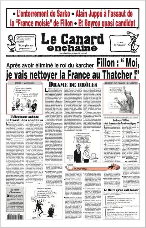 Le Canard enchaîné n°5013 du 23 novembre 2016 | les revues au CDI | Scoop.it
