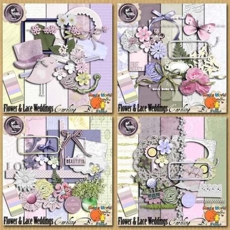 Flower And Lace Weddings Bundle - $9.57 : Caroline B., My Magic World of Digital Design | SCRAPBOOKING | Scoop.it