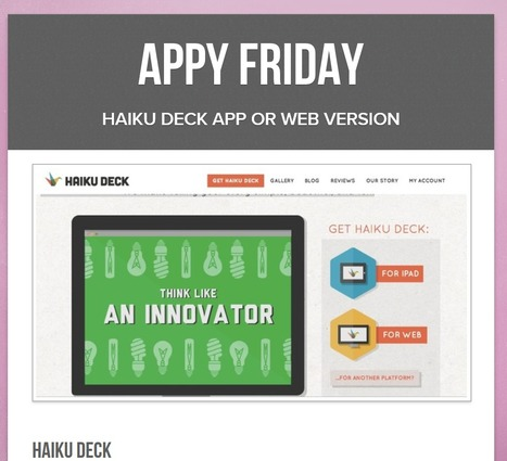 Librarians on the Fly: Haiku Deck Web Version is awesome like the App! | Educational technology | Scoop.it